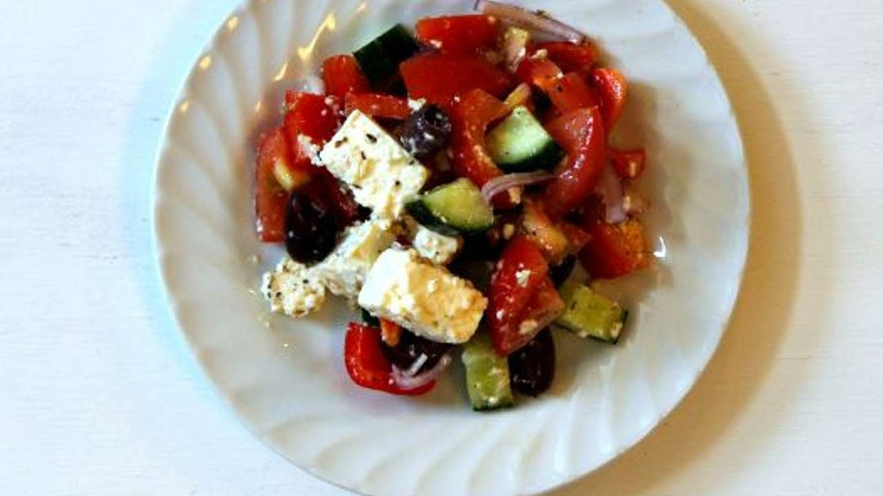 How To Make A Rustic And Authentic Greek Salad - DIY Food & Drinks Tutorial - Guidecentral