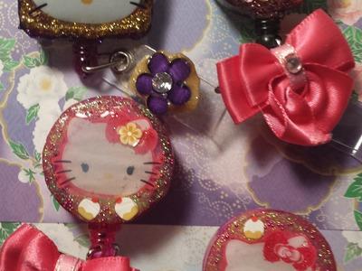 ID Badge Holder Tutorial #1: Hello Kitty
