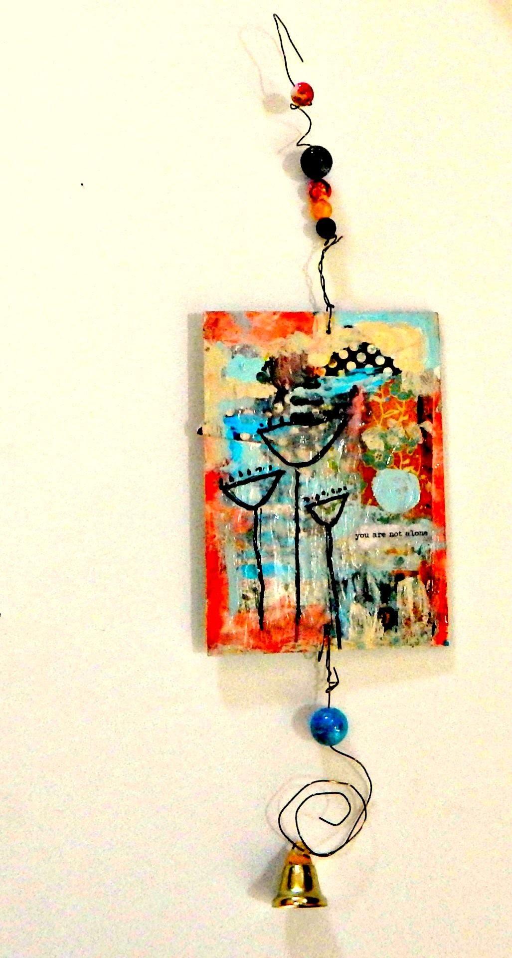 Josey's Art School Episode #1: Wind Chime Tutorial beginner mixed media projects