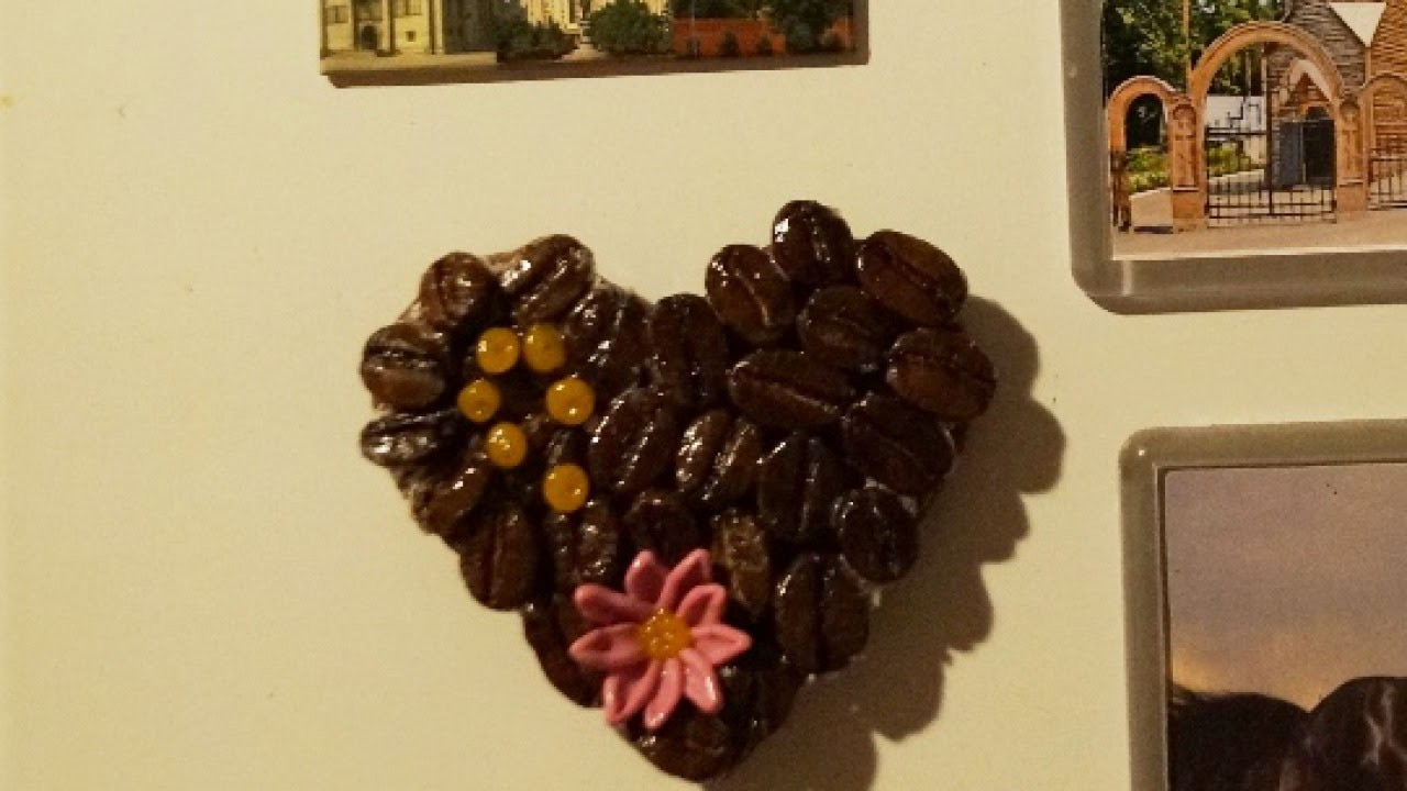 Make a Decorative Coffee Heart Magnet - DIY Home - Guidecentral