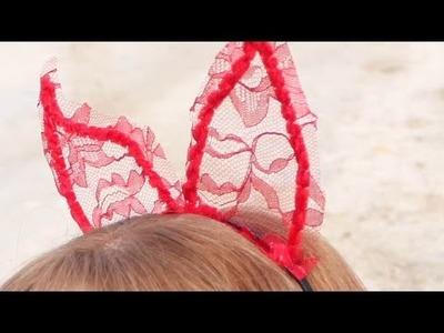 Make Lace Halloween Devil Horns - DIY Style - Guidecentral