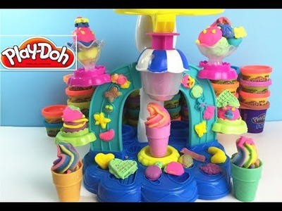 Play doh toys - play dough - play doh sweet shoppe   - Diy RainBow Icecream