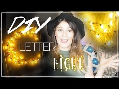 Quick & Easy Letter Light (String Art) | DIY