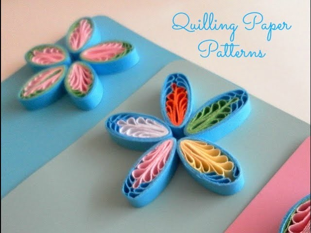 Quilling comb flower tutorial