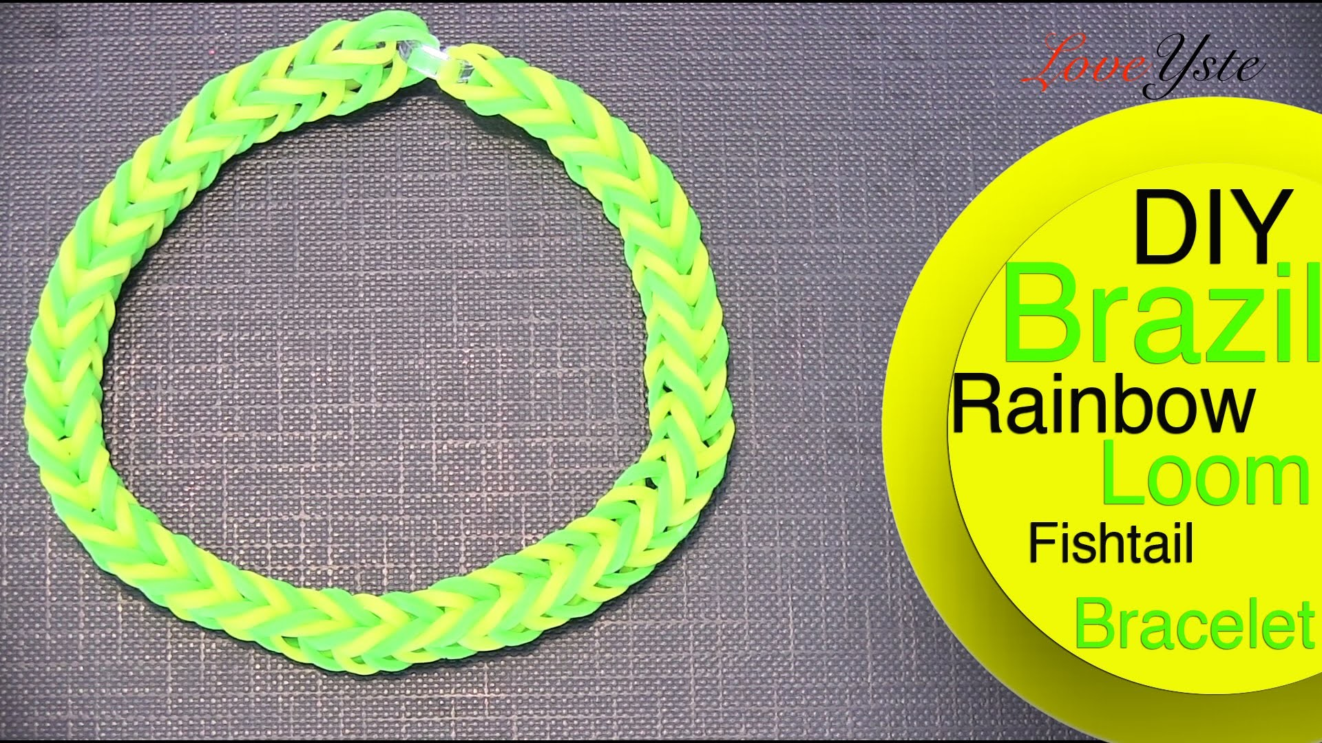 Rainbow Loom Denmark - Brazil Inspired Fishtail Bracelet (Easy Tutorial)