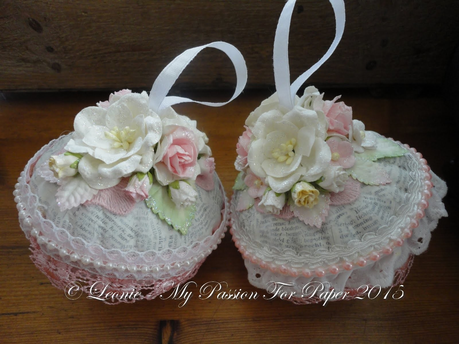 Shabby Chic Christmas Ornaments Tutorial ~ Lavish Laces DTP
