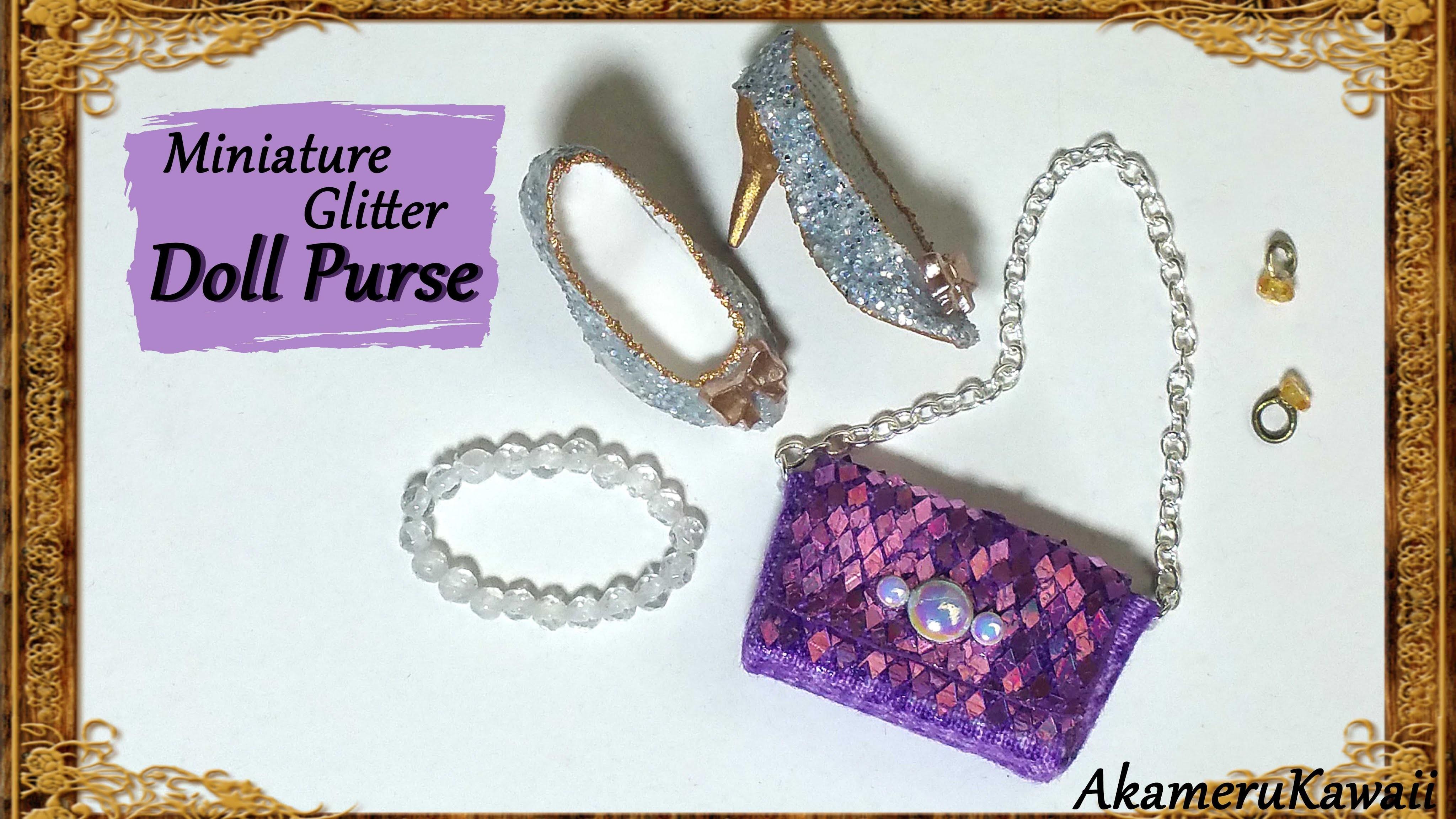 Sparkly Miniature Glitter Purse.handbag - Fabric Tutorial