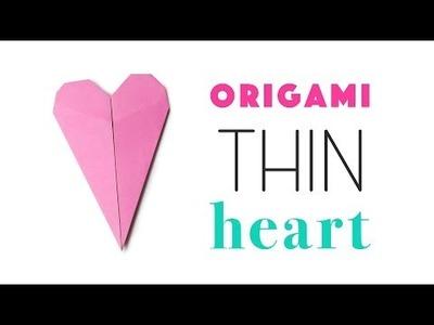 Thin Origami Heart Tutorial ♥ DIY ♥