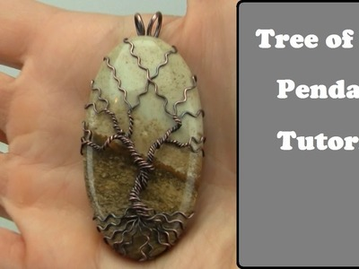 Tree of Life Gemstone Pendant Tutorial Wire Wrap