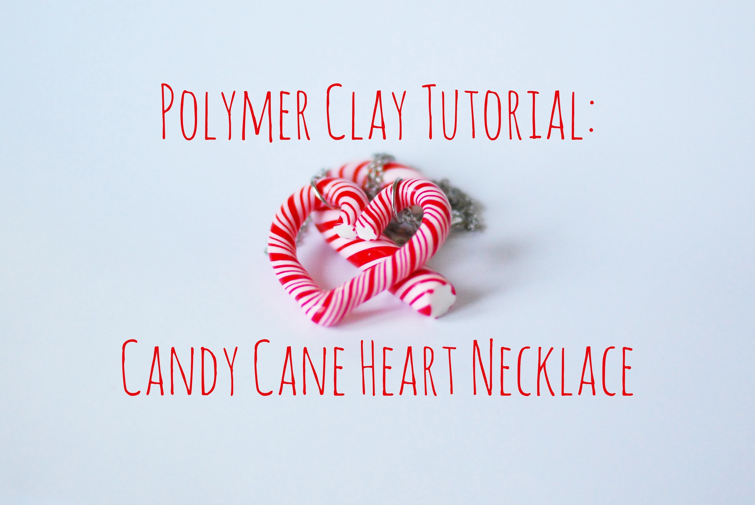 Tutorial - Polymer Clay Candy Cane Heart Necklace