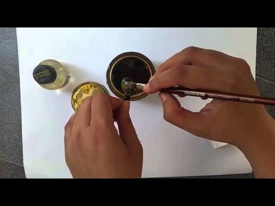 Waterproofing tutorial - how to apply varnish on quilled jhumka
