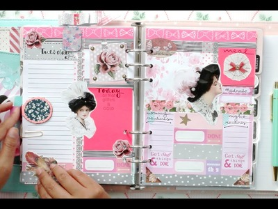#2 How I set up my daily pages for my kikki.K Planner | DECORATE WITH ME | Filomioz