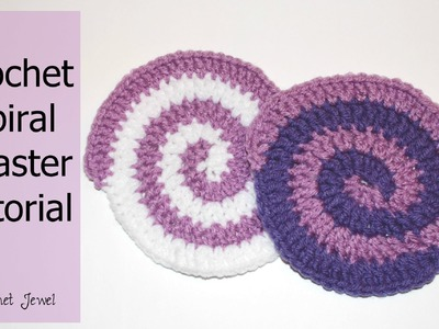 Crochet Spiral Coaster Tutorial