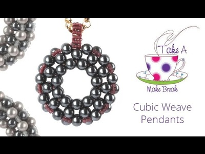Cubic Weave Pendants | Take a Make Break with Sarah
