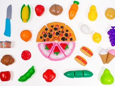 Deluxe Slice and Play Food Set Play Doh Fried Eggs Cooking Set Toy Kitchen Cutting Fruits Toy Food