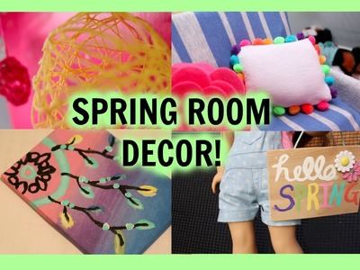 DIY SPRING ROOM DECOR! | Diy American Girl Doll Spring Room Decor