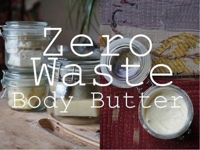 DIY Zero Waste Body Butter. Plastic Free