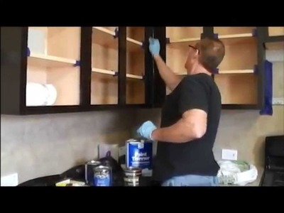 How to gel stain kitchen cabinets