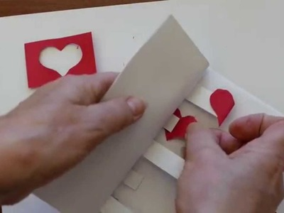 How to Make a Valentines Day Pop-up Greeting Card 5 Hearts