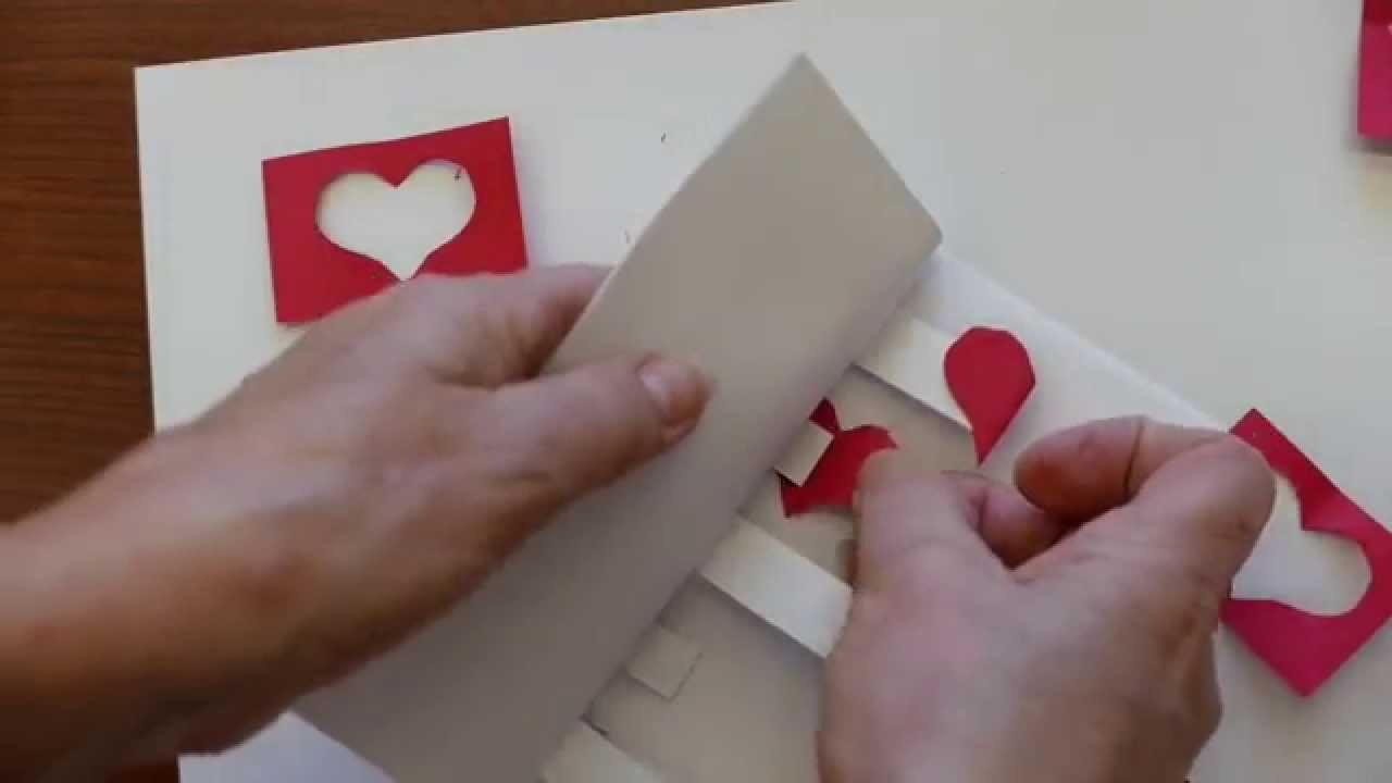 How To Make A Valentines Day Pop Up Greeting Card 5 Hearts