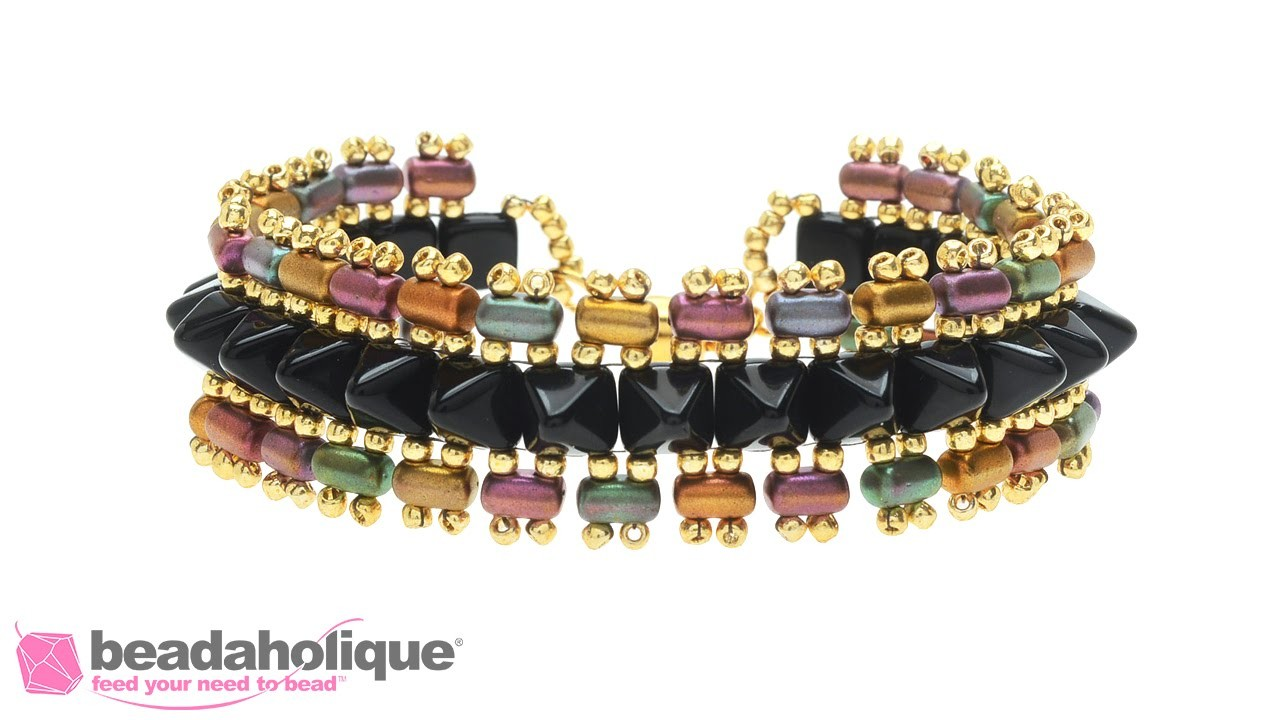 How to Make the Punk Rock Princess Bracelets featuring the 2 Hole Rulla Beads