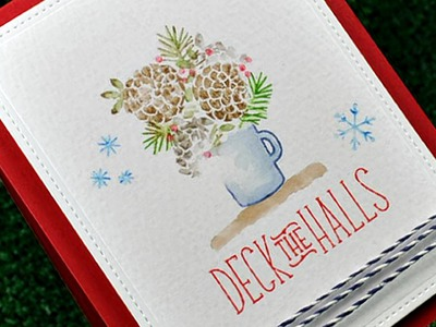 How to watercolor solid stamped images