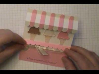 Ice Cream Shoppe Awning Card