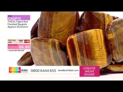 JewelleryMaker LIVE AM 15.01.2014 [How to make Beaded Genuine Gemstone Jewellery]