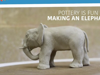 Making Animals Out of Clay - How to Make An Elephant - Pottery is Fun