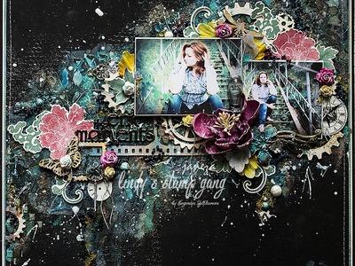 Mixed Media Layout Background Tutorial by Evgeniya Zakharova
