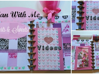 Plan With Me! The Happy Planner | HEARTS & SWEETS THEME