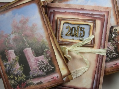 """Secret Garden"" Printable Mini Album from the ""Artisan Series"""
