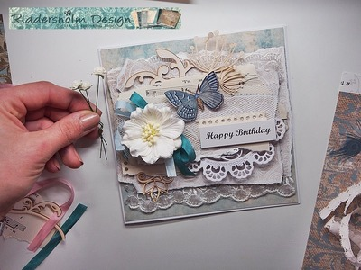 SHABBY CHIC Fast & Easy Card tutorial for Riddersholm Design