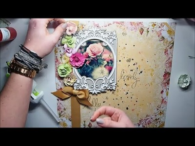 'Super Easy Scrapbook Page 'Lovely' for kit club