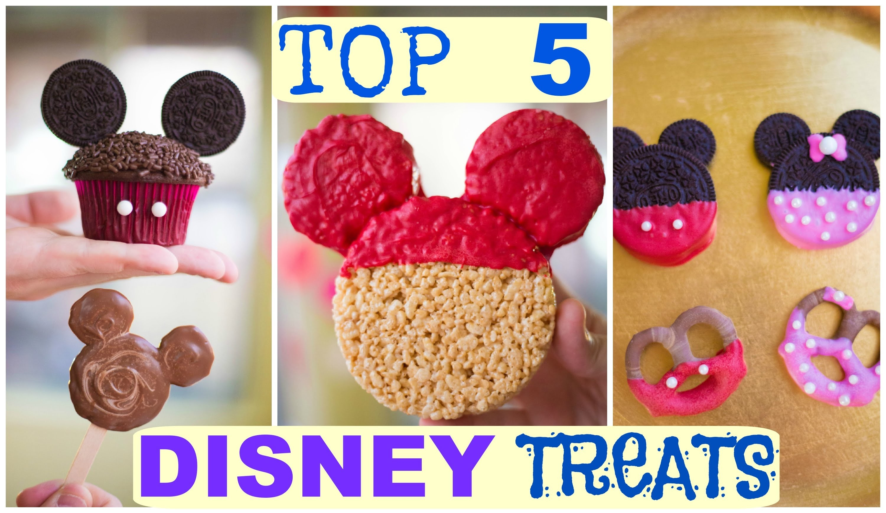 Top 5 Disney Treat Ideas! Mickey and Minnie Mouse!