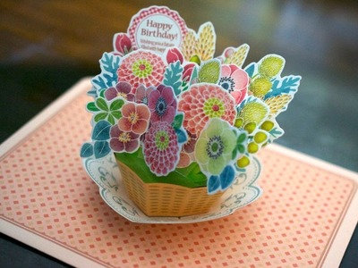 [tutorial]  flower basket pop-up card