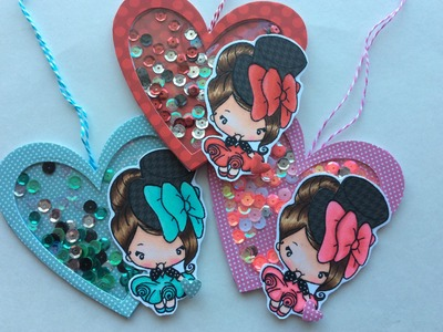 Valentine Heart Shaker Tags DT Project for Not2ShabbyShop