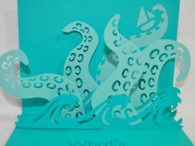 What's Kraken Pop Up Card - Simple Pop Up Cards Cartridge - Cricut Explore