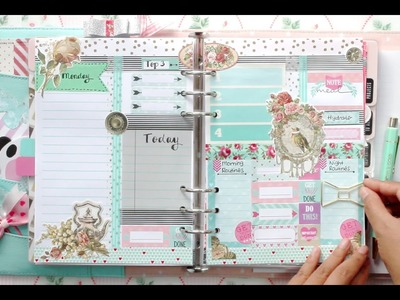 #1 How I set up my daily pages for my kikki.K Planner | DECORATE WITH ME | Filomioz