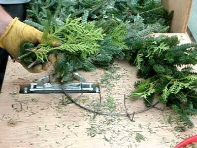 BTN Making a fraser fir wreath