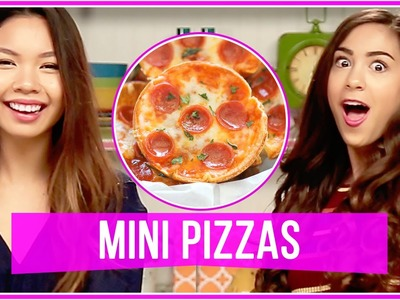 DIY EASY MINI PIZZA BITES! | Let's Get Snacking w. MissTiffanyMa and ClayCupcakes4