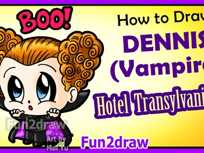Hotel Transylvania 2 - How to Draw Cute Dennis Vampire Boy + Fun Facts Halloween Fun2draw