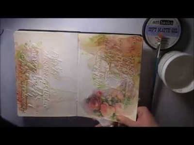 How to artjournaling - 'Life' mixed media journal page. decujournal
