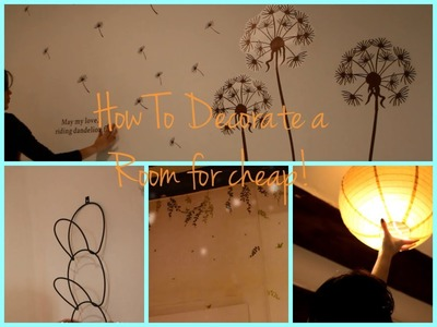 How to decorate a room for cheap ♥
