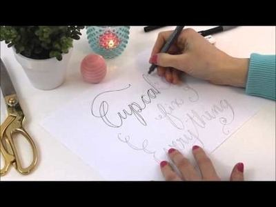 How to do hand lettering, the easy way