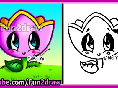 How to Draw for Kids - How to Draw A Flower - Fun2draw