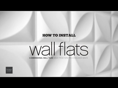 250f944ea01 How To Install Inhabit Wall Flats - 3D Wall Panels