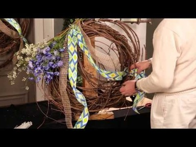 How To Make a Beautiful Spring Wreath