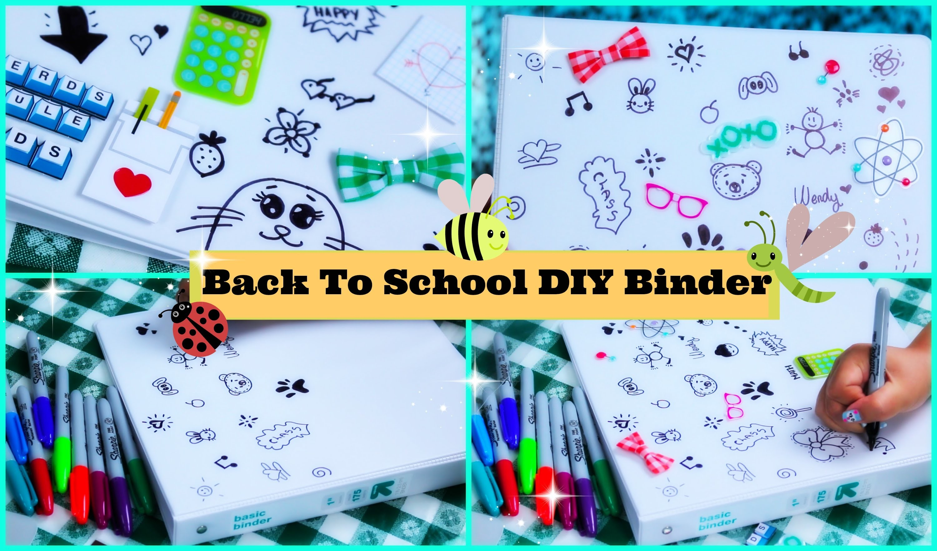How To Make an Easy Back To School Binder. Folder - School Supplies DIY