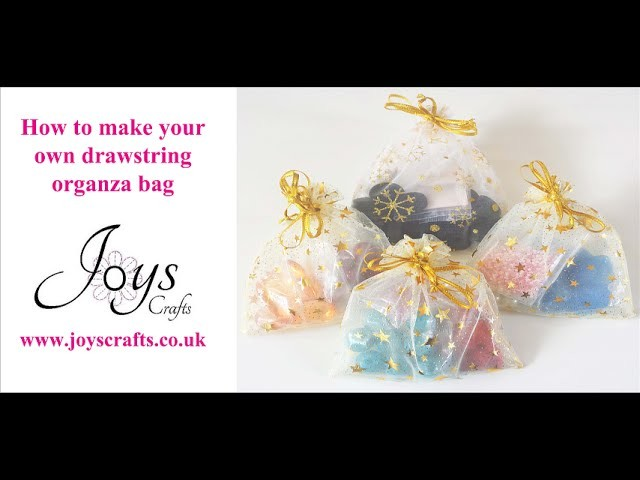 How to make organza draw string favour bags!